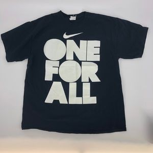 Nike Men One For All Print Casual Black Tee Shirt